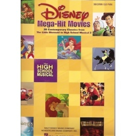 Disney Mega Hit Movies 2nd Edition (Easy Piano, Voice & Guitar)