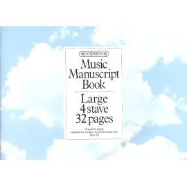 Music Manuscript Book