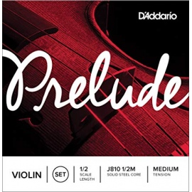 Prelude J810 Medium Tension 1/2 Scale Violin String Set
