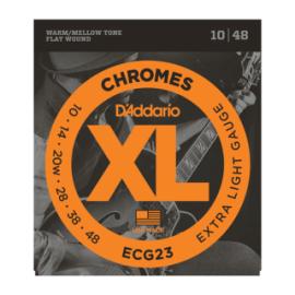 ECG23 Extra Light Gauge 10-48 Flatwound Chromes Electric Guitar Strings