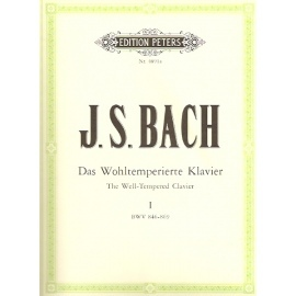 Bach: The Well Tempered Clavier Part I: Edition Peters