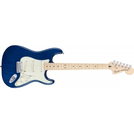 Mexican Deluxe Stratocaster in Sapphire Blue Trans