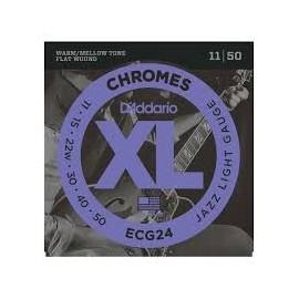 ECG24 Jazz Light Gauge Chrome Guitar Strings