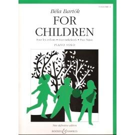 Bela Bartok For Children: Piano Solo: Vol 2