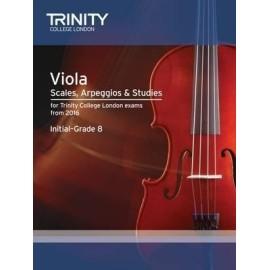 Trinity Viola Scales, Arpeggios, & Studies Initial - Grade 8