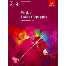 ABRSM Viola Scales & Arpeggios Grades 6-8