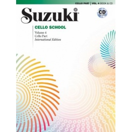 Suzuki Cello Part Volume 4 (Bk&CD)