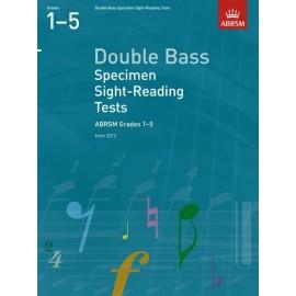 ABRSM Double Bass Specimen Sight Reading Tests Grades 1-5 2012