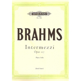 Brahms - Intermezzi Op. 117: Peters Edition