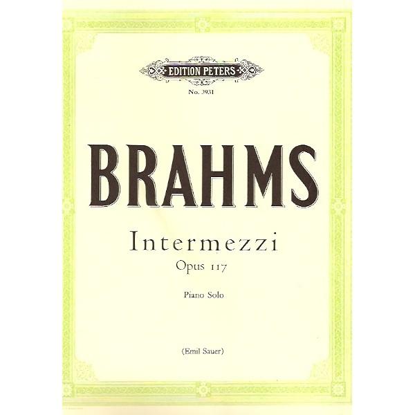 Brahms - Intermezzi Op. 117: Peters Edition