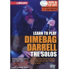 Lick Library: Learn To Play Dimebag Darrell The Solos DVD & CD Set