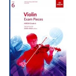 ABRSM Violin Exam Pieces Grade 6 2020-2023 (Book Only Edition)