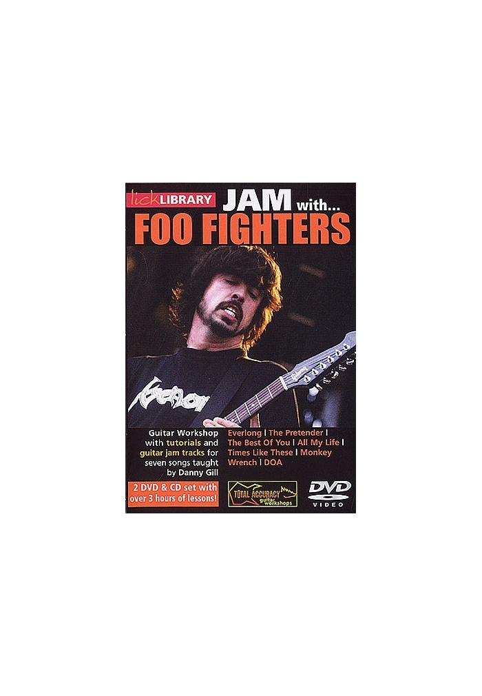 Lick Library Jam With Foo Fighters 2 Dvd Cd Set