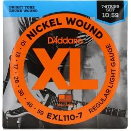 EXL1107 Nickel Wound XL 7-String Set Regular Light Gauge 10-59