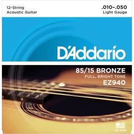 EZ940 85-15 Bronze, 12-String Light, 010-050