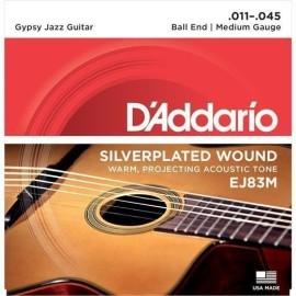 DADDARIO EJ83M GYPSY JAZZ BALL END MEDIUM 11-45