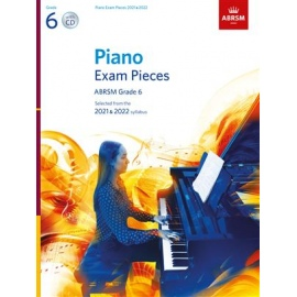 ABRSM Piano Exam Pieces 2021 & 2022 - Grade 6 (Book & CD)
