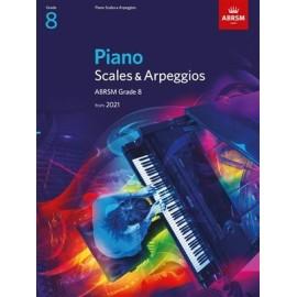 ABRSM Piano Scales & Arpeggios 2021 - Grade 8