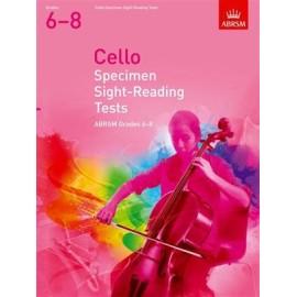 ABRSM Cello Specimen Sight-Reading Tests Grades 6-8
