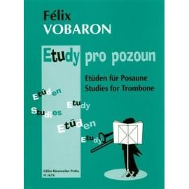 Félix Vobaron : Etueden fuer Posaune / Studies for Trombone