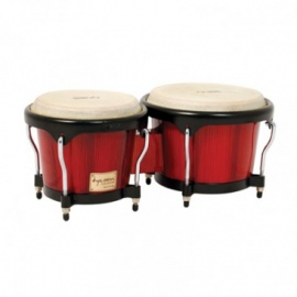 Tycoon Percussion Artist Hand-Painted Red Bongos