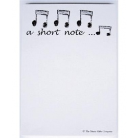 A6 Notepad A Short Note