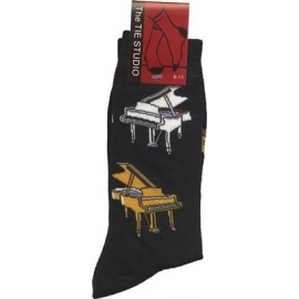 Grand Piano Socks - Black (Size 6-11)