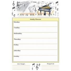 A4 Weekly Planner - Piano Design