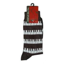 Keyboard Black & White Socks - (Size 6-11)