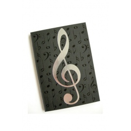 A6 Journal Black Notes Silver
