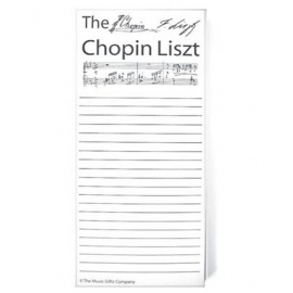 Notepad Chopin Liszt