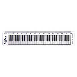 15cm Ruler Keyboard Design Clear