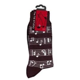 Sheet Music Socks - Black (Size 6-11)