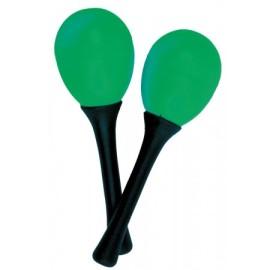 Atlas Pair of Egg Maracas, Green