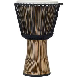 """Pearl 14"""" Rope Tuned Djembe in Zebra Grass"""