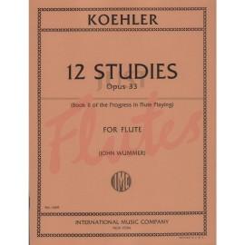 Koehler 12 Studies for Flute Op 33