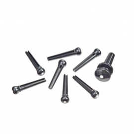 Planet Waves PWPS10 Injected Molded Bridge Pins set Ebony