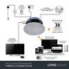WiFi All-In-One IP44 Multi-Room Bathroom Ceiling Speaker (SINGLE - Master)