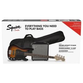 Squier Affinity PJ Bass Pack, Brown Sunburst