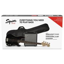 Squier Affinity Series PJ Bass Pack Black