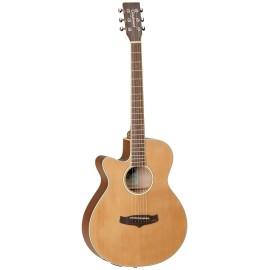 Tanglewood TW9ELH Super Folk Cutaway Semi Acoustic Left Handed Guitar