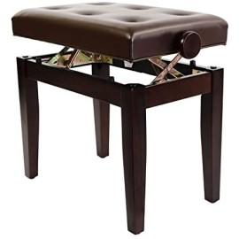 Luxury Adjustable Piano Stool Satin Rosewood