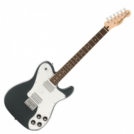 Squier Affinity Telecaster Deluxe Electric Guitar LRL, Charcoal Frost Metallic