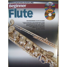 Progressive Beginner Flute with CD and DVD