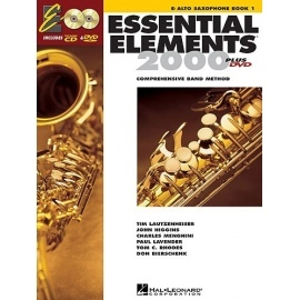 Essential Elements 2000 for Alto Saxophone Book 1 with CD and DVD