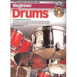 Progressive Beginner Drums with CD and DVD