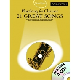 Guest Spot Playalong for Clarinet 21 Great Songs with 4 CDs