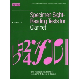 ABRSM Specimen Sight-Reading Tests for Clarinet Grade 1-5