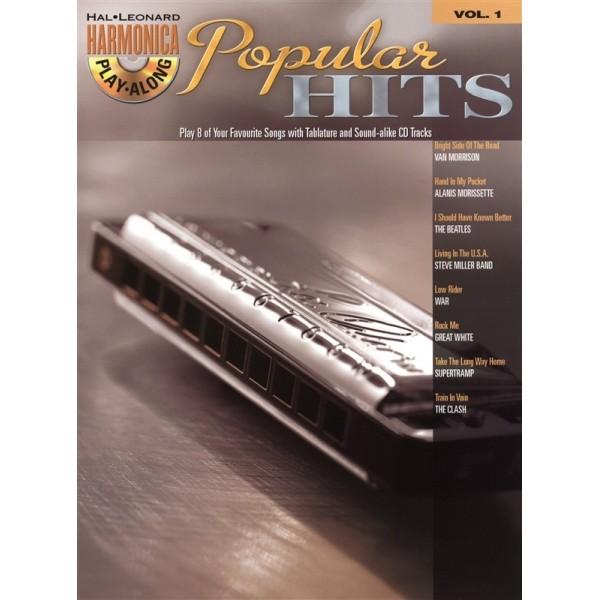 Hal Leonard Harmonica Playalong: Popular Hits Volume 1