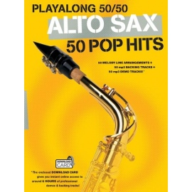 Playalong 50/50 Alto Sax 50 Pop Hits